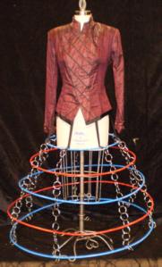 Mrs. Saunders jacket and hoop skirt