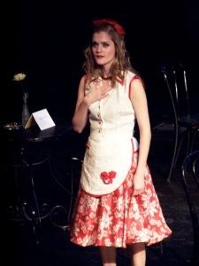 Meghan Reardon in the red dress