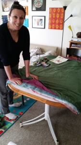 preparing stamping bed