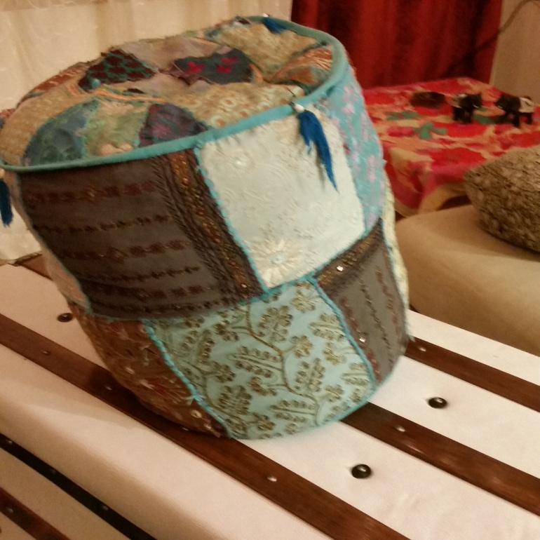 teal ottoman pouf