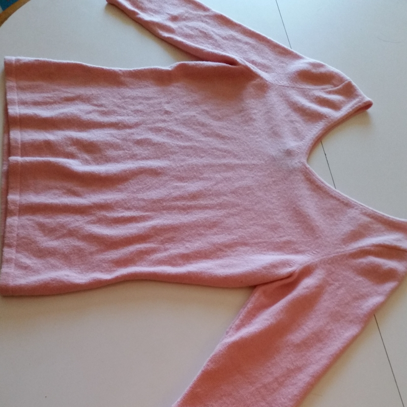 the pink sweater