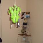 Hanging brushes on buddah