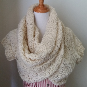 knit cowl shrug
